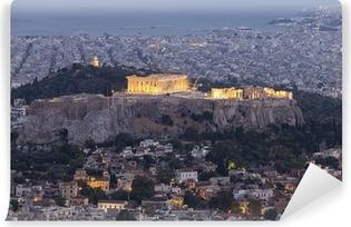 Akropolis og Parthenon, Athen, Grækenland Vinyl fototapet