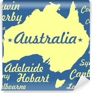 Karta Australien Adelaide.Dekor Australien Karta Siluett Med Stader Namn Pixers Vi Lever