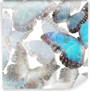 Baggrund med marmor sommerfugle Vinyl fototapet