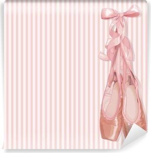 Ballet tøfler Vinyl fototapet