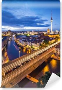 Fototapet av Vinyl Berlin, Tyskland Skyline Scene