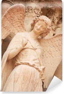 Berømte smilende engel på facaden af Reims Cathedral Vinyl fototapet