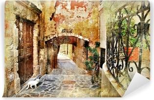 Fototapet av Vinyl Bildmässiga gamla gatorna i Grekland, Kreta