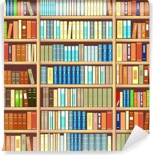 Fototapet av Vinyl Bokhylla full av böcker