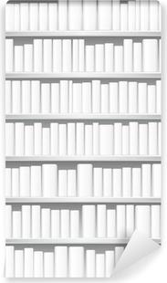Fototapet av Vinyl Bokhylla med vita böcker