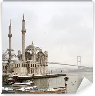 Fototapet av Vinyl Bosphorus-bron och Ortakoy moskén i Istanbul Turkiet