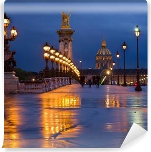 Fototapet av Vinyl Bridge of Alexandre III, Paris, Frankrike