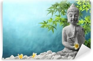 Fototapet av Vinyl Buddha i meditation