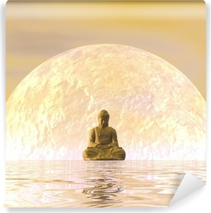 Fototapet av Vinyl Buddha meditation - 3d
