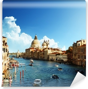 Fototapet av Vinyl Canal Grande och basilikan Santa Maria della Salute, Venedig
