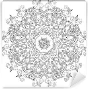 Cirkel ornament, dekorative runde blonder Vinyl fototapet