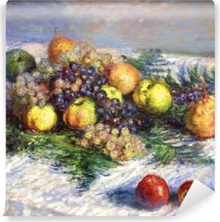 Fototapet av Vinyl Claude Monet - Päron och druvor. Stilleben med frukter