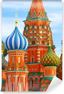 Det mest berømte sted i Moskva, Saint Basil's Cathedral, Rusland Vinyl fototapet