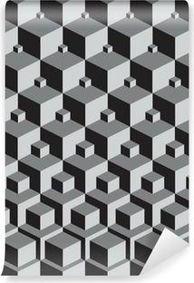 Escher inspireret stabling kuber kunst Vinyl Fototapet