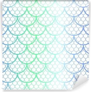 e6f93da2 Fototapet Vakker havfruehale, fisktekstur i pastell, myke farger, beige,  aqua grønn (mink) og blå med gnister og glød. sømløs havfrue mønster •  Pixers® - Vi ...