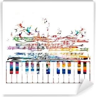 Farverig musik baggrund Vinyl fototapet