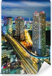 Fototapet av Vinyl Flygfoto över Tokyo skyskrapor, Minato, Japan