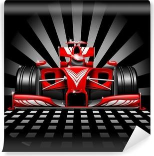 Fototapet av vinyl Formel 1 Red Race Car