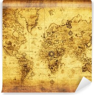 Gamle kort over verden Vinyl fototapet