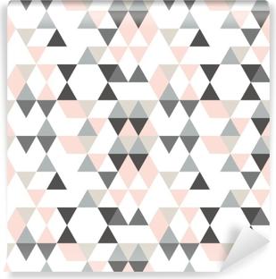 4d13a9ea Fototapet Sømløs geometrisk mønster fra trekanter av forskjellige farger på  en hvit bakgrunn. • Pixers® - Vi lever for forandring