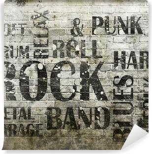 Fototapet av Vinyl Grunge rockmusik affisch
