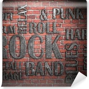 Grunge rockmusik plakat Vinyl fototapet