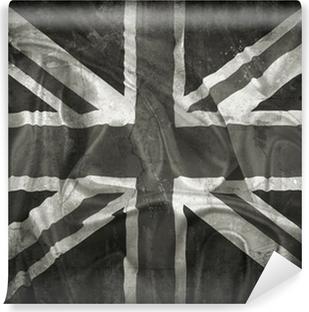 Fototapet av Vinyl Grunge Union Jack flagga bakgrund