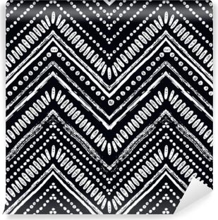 8e62c9bd Fototapet av vinyl Hånd trukket zigzag og stripe mønster. vektor  illustrasjon for tribal design.