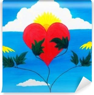 Fototapet av vinyl Helbredende kraft i naturen pleie og gjenopprette hjertet med sine krefter.