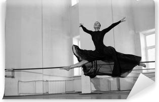 Fototapet av Vinyl Hoppa utbildning ballerina