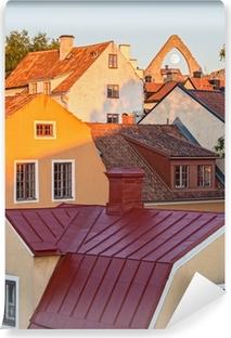 Fototapet av Vinyl Hustaken i medeltida staden Visby
