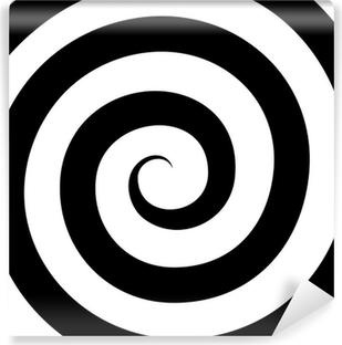 Fototapet av Vinyl Hypnose Spiral Mønster. Optisk illusjon. Vector