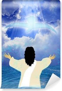 Fototapet av vinyl Jesu dåp