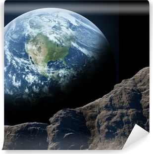 Jorden set fra månen Vinyl fototapet