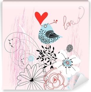 Kærlighed fugl Vinyl fototapet