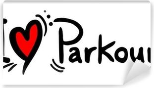 Kærlighed parkour Vinyl fototapet