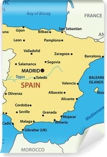 Poster Karta Over Spanien Vektor Illustration Pixers Vi