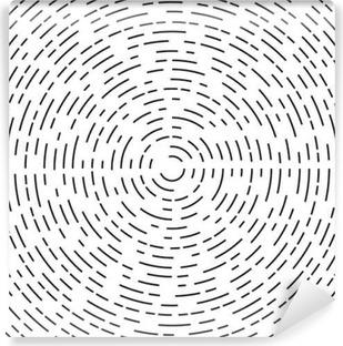 Koncentrisk cirkelelement eller baggrund. Vinyl Fototapet