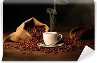 Fototapet av Vinyl Kopp rykande kaffe