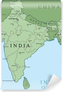 Kort Over Indien Plakat Pixers Vi Lever For Forandringer