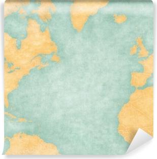 Kort Over Nordatlanten Blank Kort Vintage Series Plakat