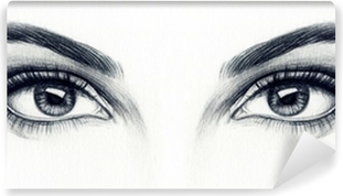 Kvinde øjne Vinyl fototapet