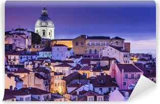 Fototapet av Vinyl Lissabon, Portugal horisont på Alfama