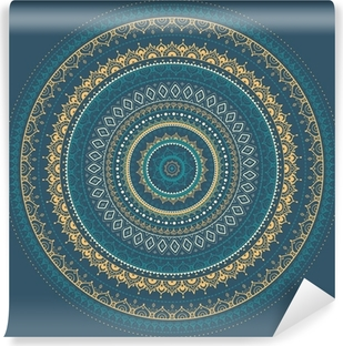 Fototapet av Vinyl Mandala. Indiska dekorativa mönster.
