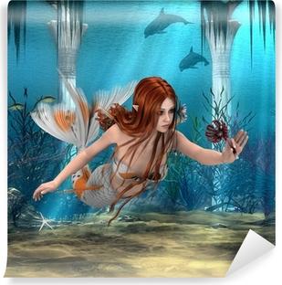 Fototapet av Vinyl Mermaid innehar Sea Lily