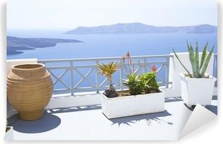 Middelhavet terrasse Vinyl fototapet