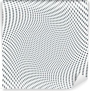 Moire mønster, op kunst baggrund. Hypnotic baggrund med geometr Vinyl Fototapet