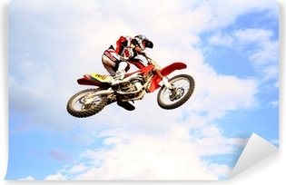 Motocross i himlen Vinyl fototapet