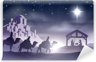 Fototapet av Vinyl Nativity Christmas Scene
