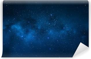 Nattehimmel - Universe fyldt med stjerner, nebula og galakse Vinyl fototapet
